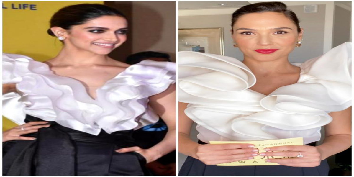 Deepika Padukone or Gal Gadot: Who looks best in ruffle blouse and black pants combination