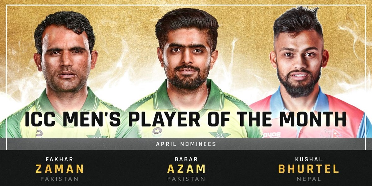Babar Azam, Fakhar Zaman nominated for ICC 'Player of the Month' award