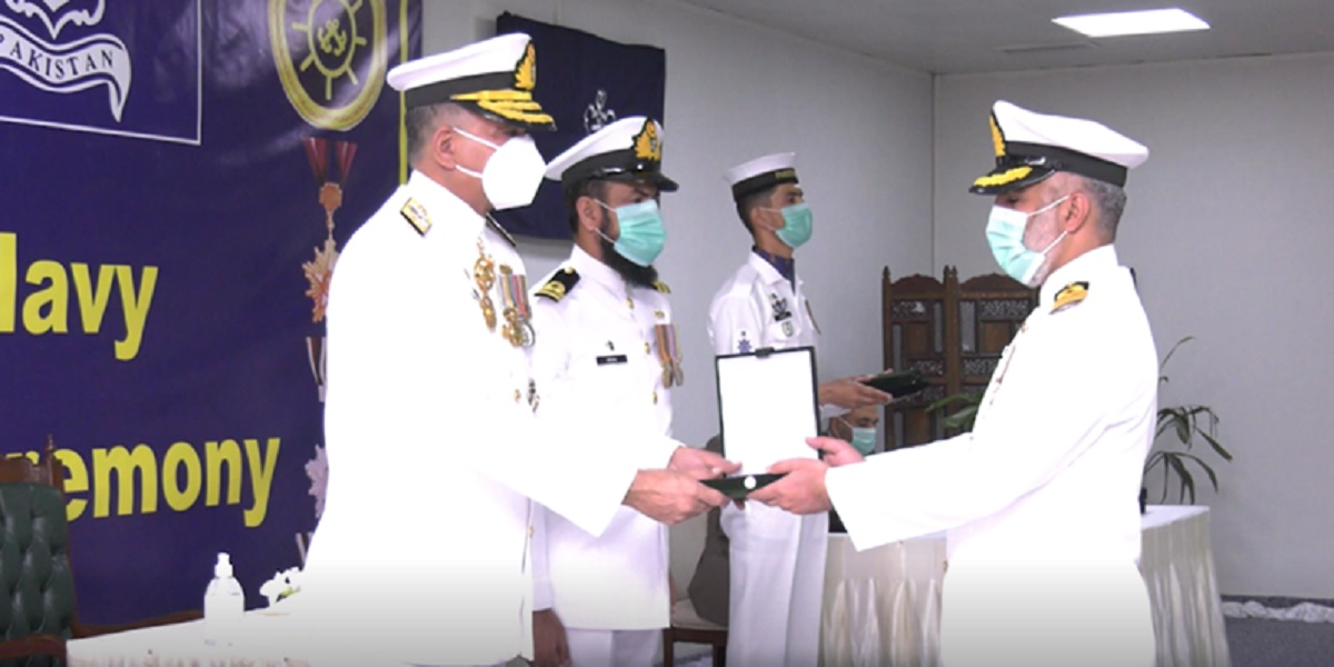 Pakistan Navy personnel conferred with Military awards