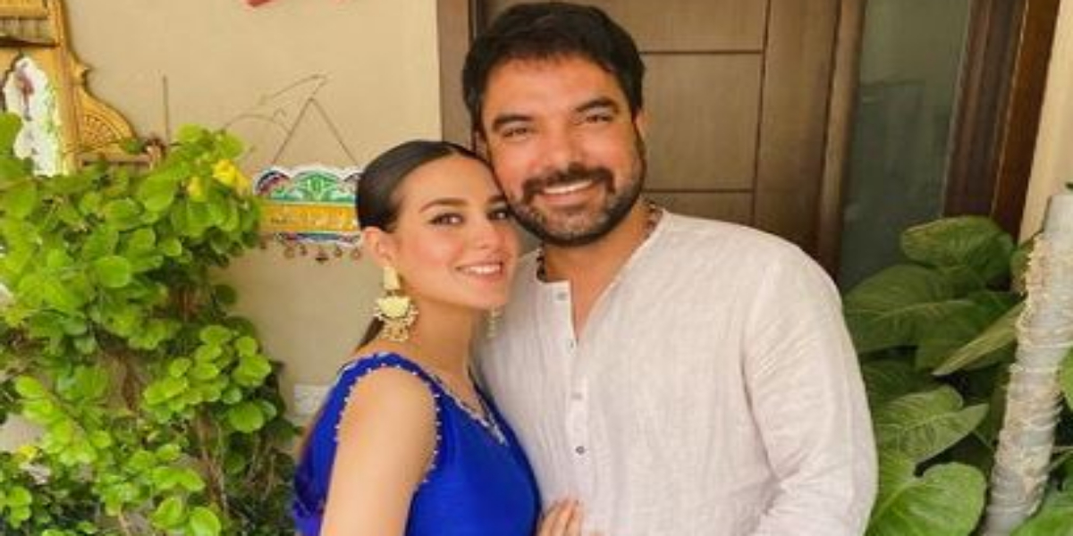 Soon-To-Be Mom Iqra Aziz Glows In Royal Blue As She Celebrates Eid With Hubby
