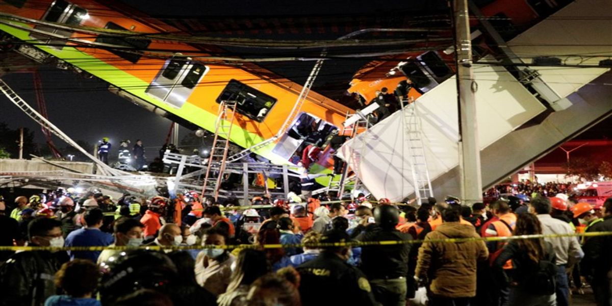 Mexico City train collapsed