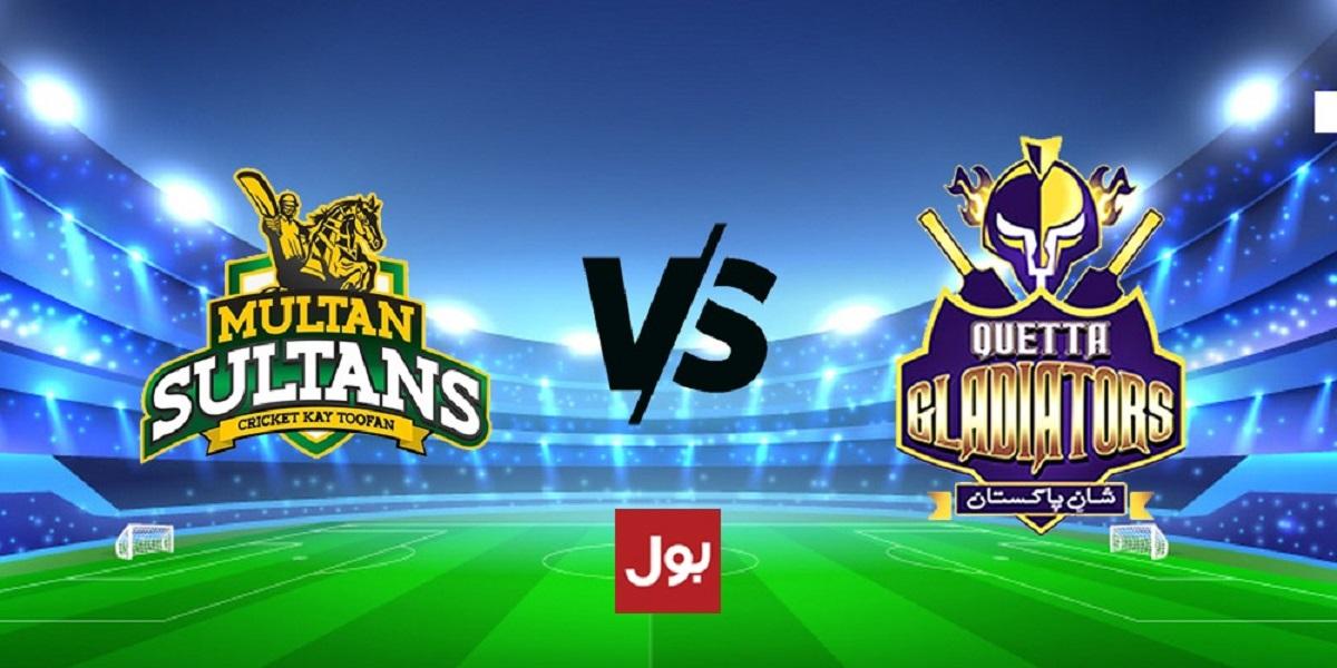 PSL 2021: Quetta Gladiators Vs Multan Sultans, Match No. 25