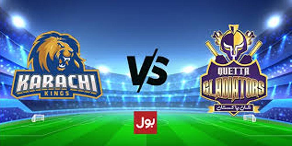 PSL 2021: Karachi Kings Vs Quetta Gladiator In Match No. 29