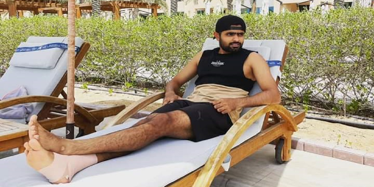 Babar Azam: Shared A Photo Of Himself Where He's In Relaxing Mode