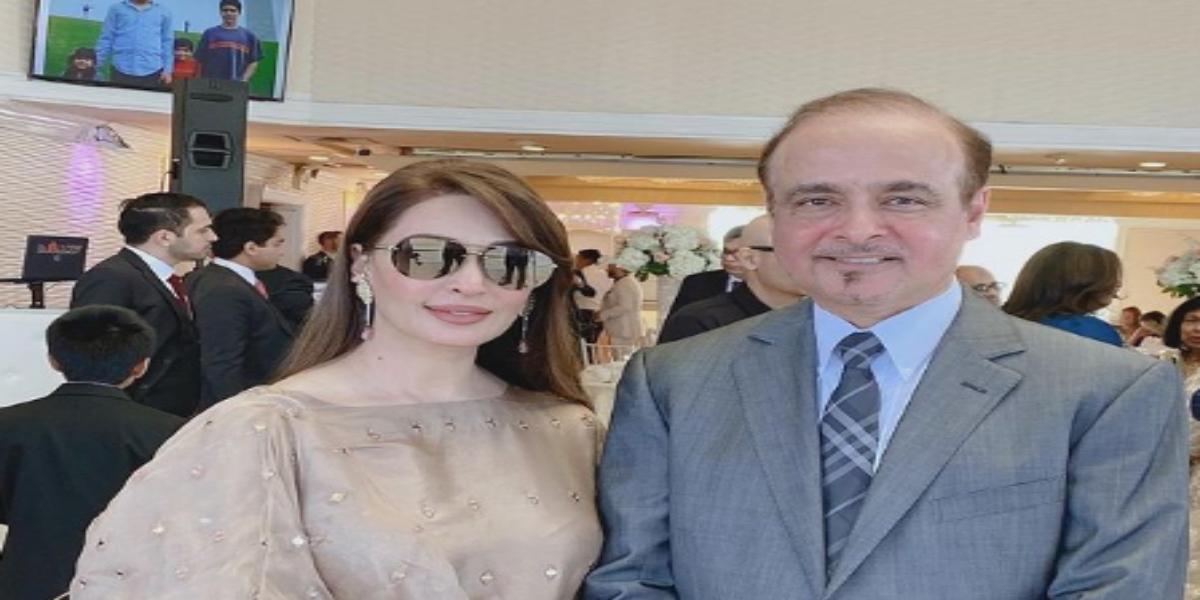 Reema Khan with husband