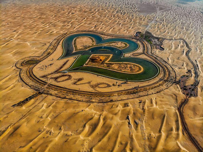 Dubai's 'Love Lake'