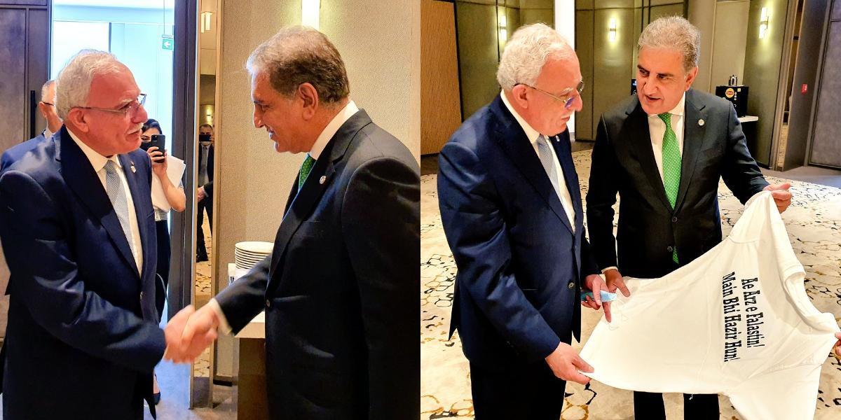 Qureshi meets Palestinian counterpart