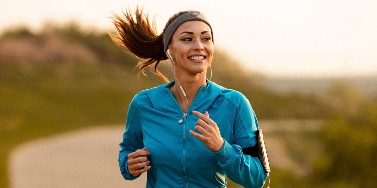 Listening to music while jogging can aid with mental fatigue