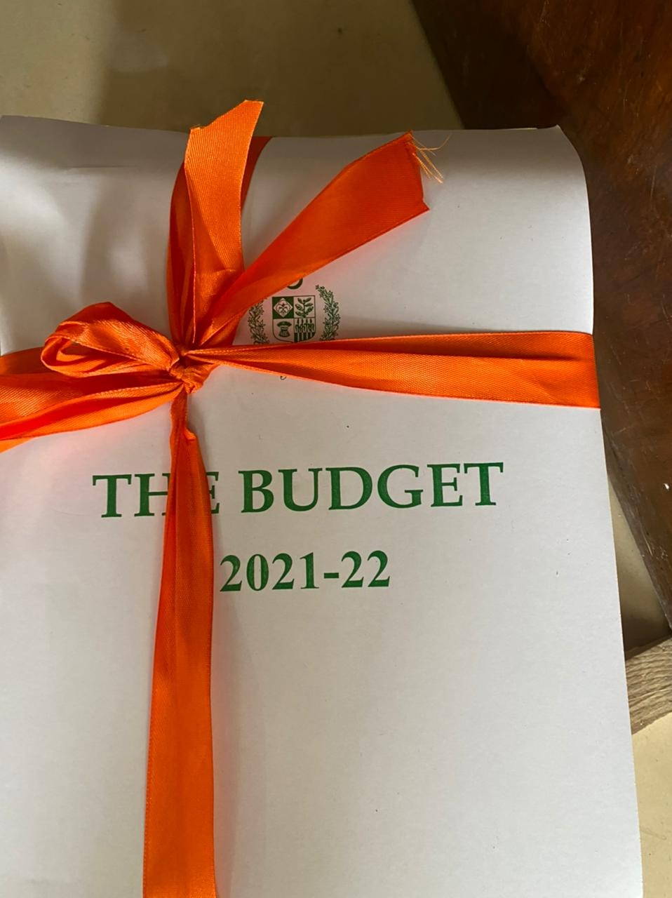 Budget 2021 Documents Transported