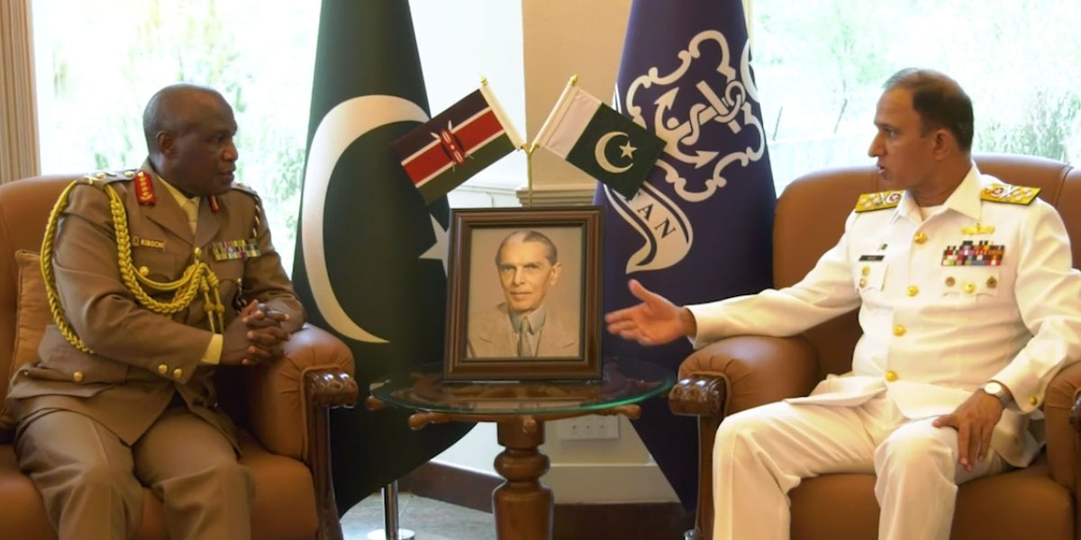 CNS Niazi Meets Chief of Defence Forces Kenya