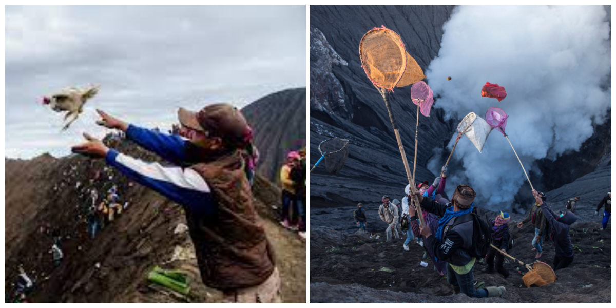 Indonesia: Thousands Flock To Volcano With Chicken And Goats For Sacrifice