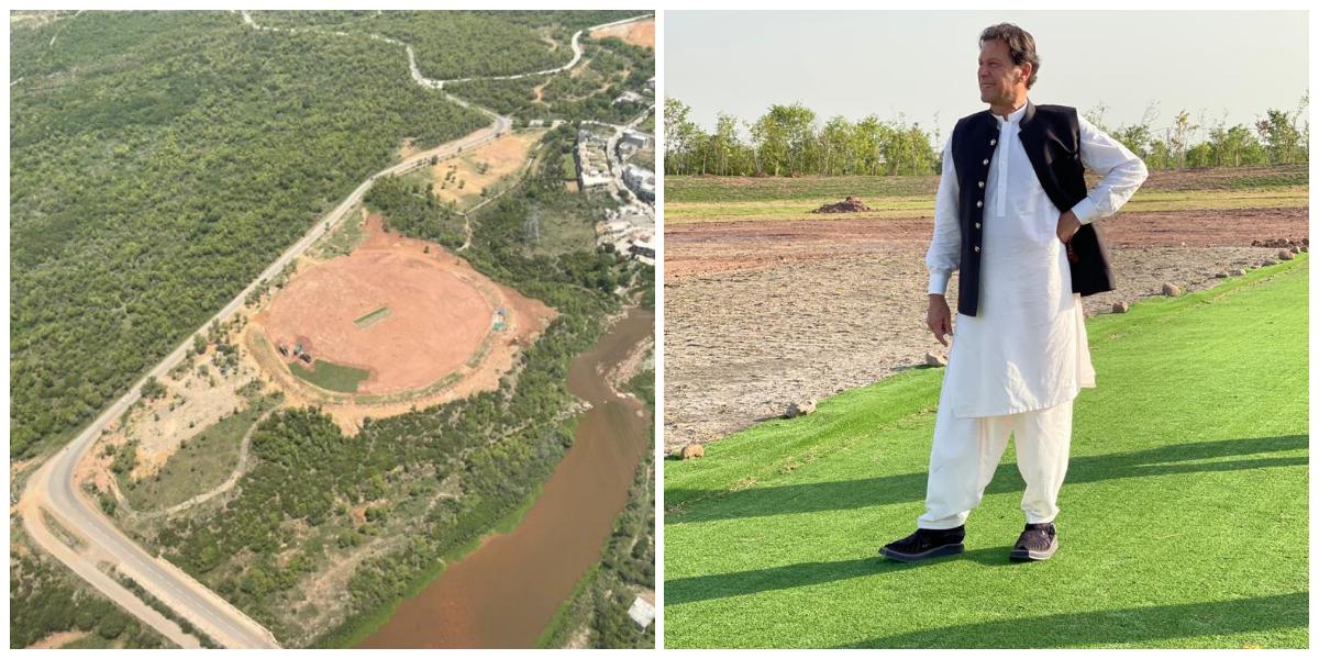 PM Imran Shares Images Of Under Construction Bani Gala Cricket Ground