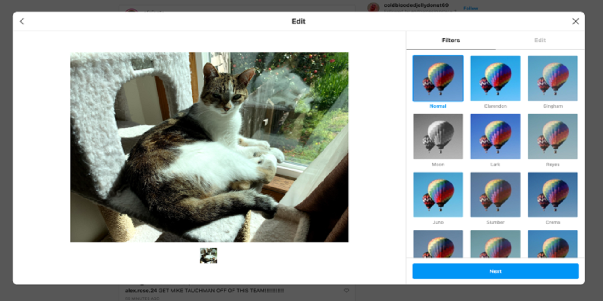 Instagram is testing to post photos from your desktop