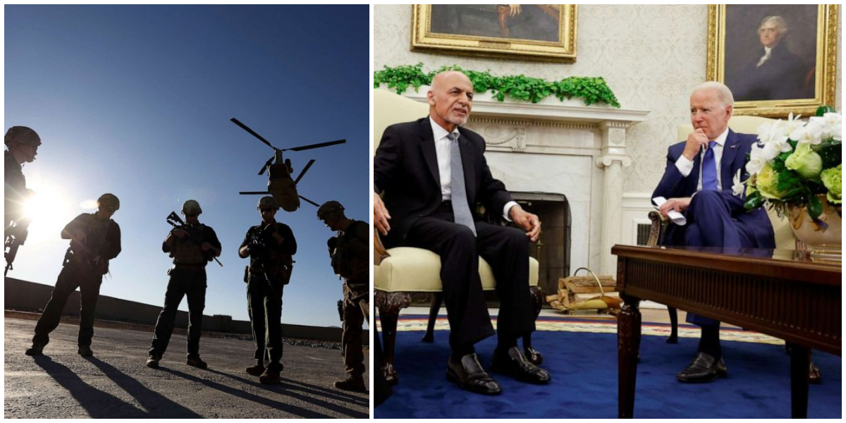 Biden Holds First Face-To-Face Meeting With Ashraf Ghani Amid Withdrawal