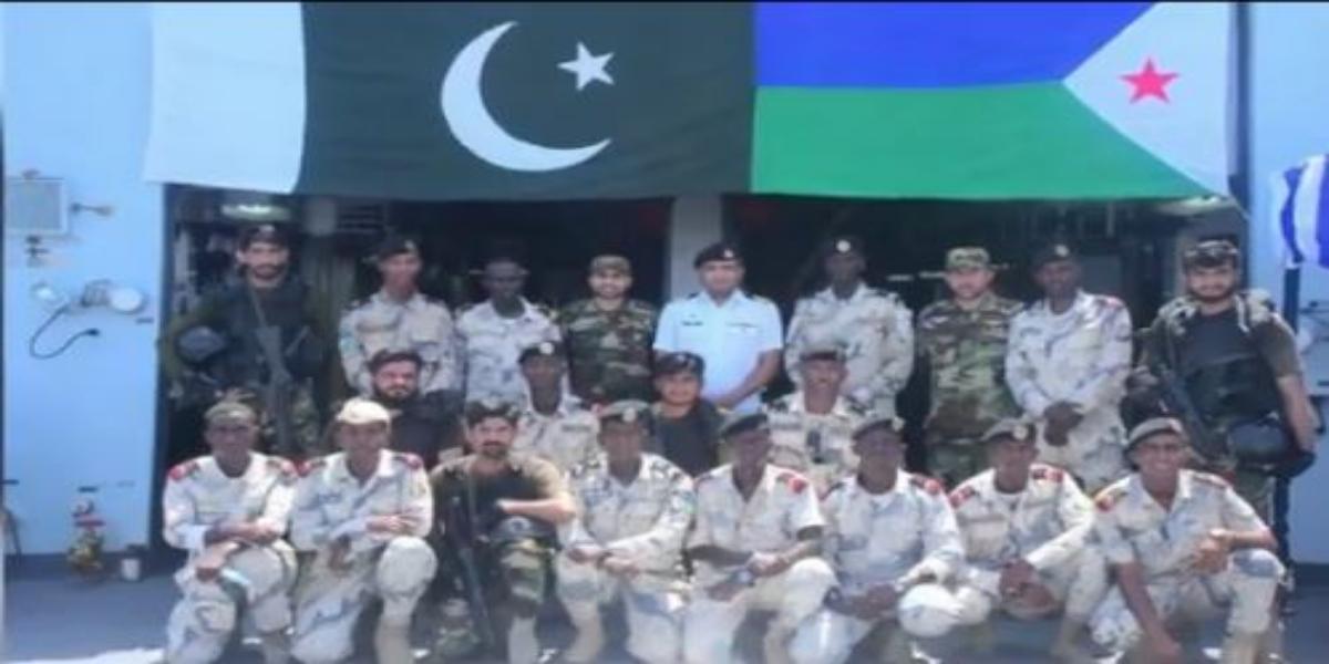 Pak Navy Ship SAIF Visits Port Djibouti During Deployment On RMSP