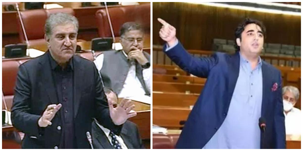 Shah Mehmood, Bilawal Trade Barbs In National Assembly