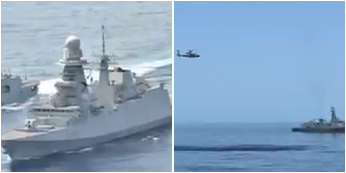 Pak Navy Ship Conducts Passage Exercise With Italian Navy Ship