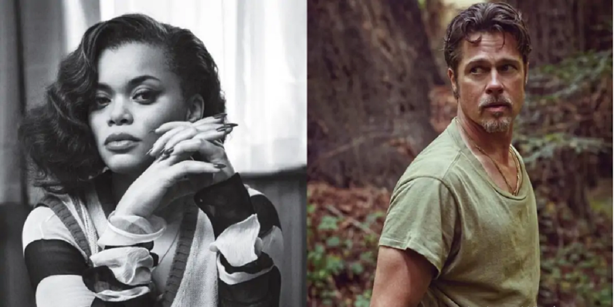 Brad Pitt and Andra Day flirted backstage at the Oscars