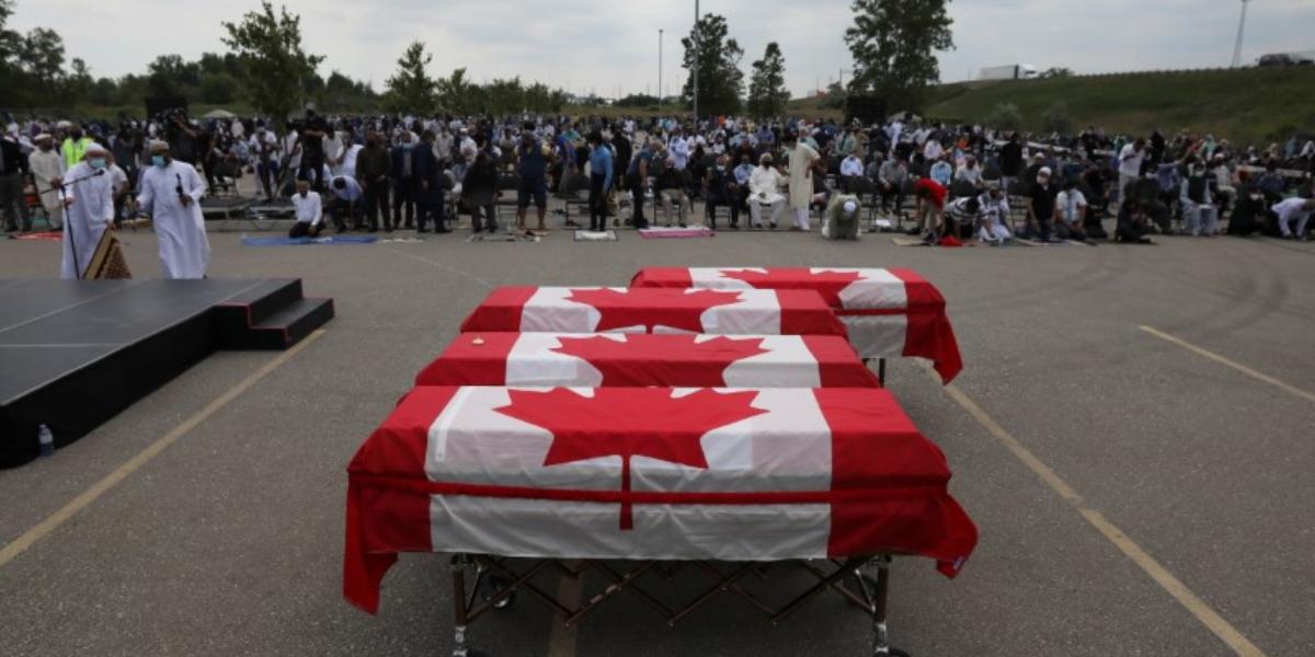 Ontario attack Muslim family buried