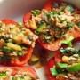 Recipe: Vegan Stuffed Cheesy Bell Peppers
