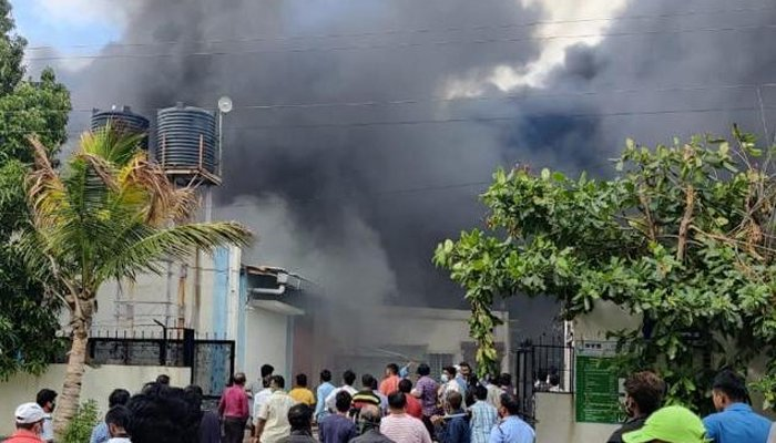 chemical factory fire