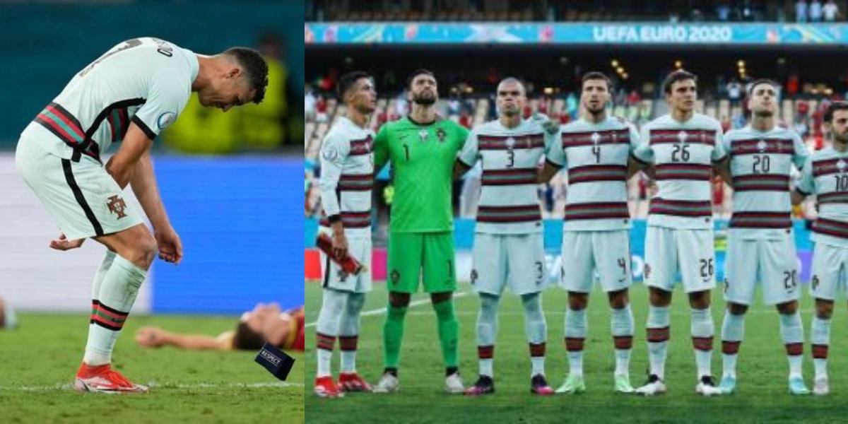 Ronaldo armband reaction after Euro 2020 exit