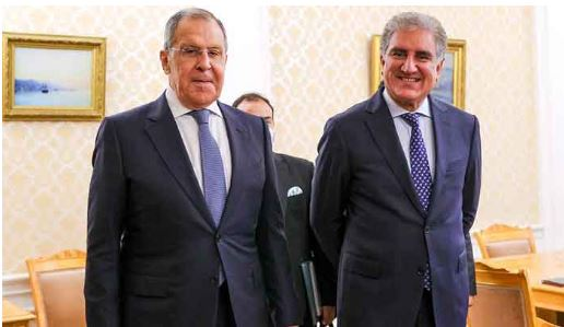 shahmehmood qureshi with russian