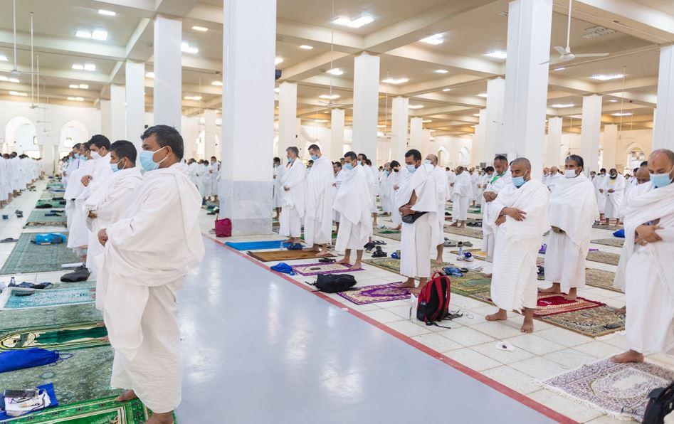 Hajj 2021 Dhuhr and Asr prayers after sermon