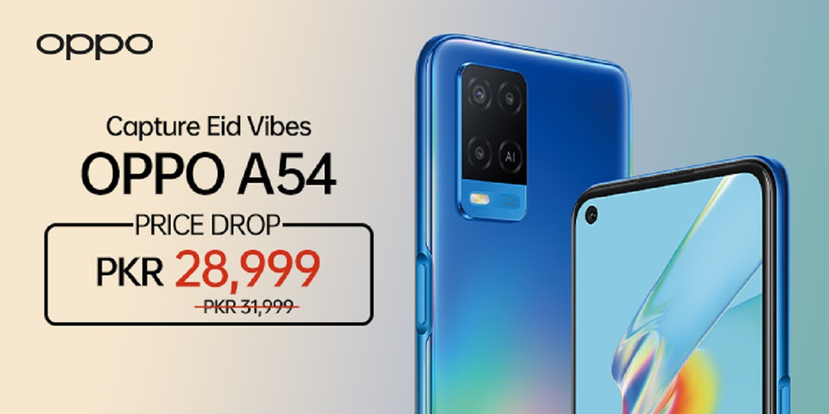 OPPO A54 Price Dropped by Rs3,000 as an Eid Offer