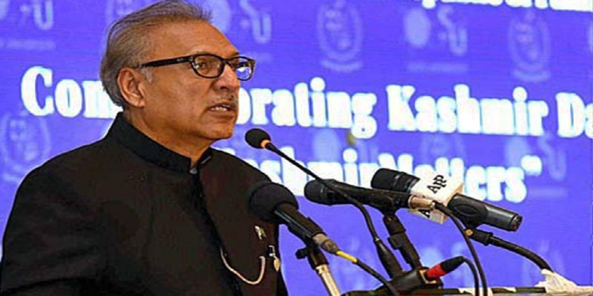 Kashmiris will soon achieve their goal of freedom: President Alvi