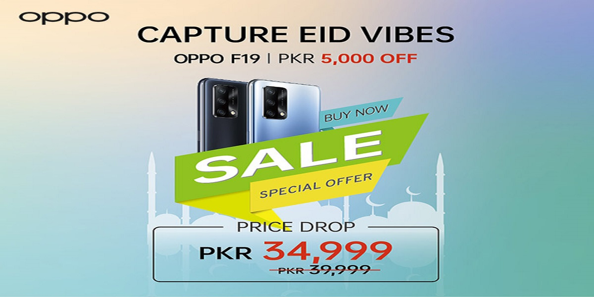 OPPO F19 Gets a Huge Price Cut of Rs5,000 as an EID Offer