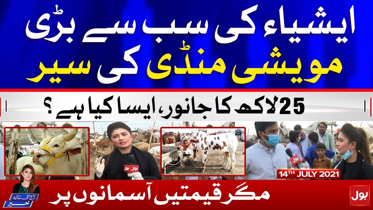 Asia's Biggest Cow Mandi   Karachi Cow Mandi 2021   Aaj Ki Taaza Khabar   14 July 2021