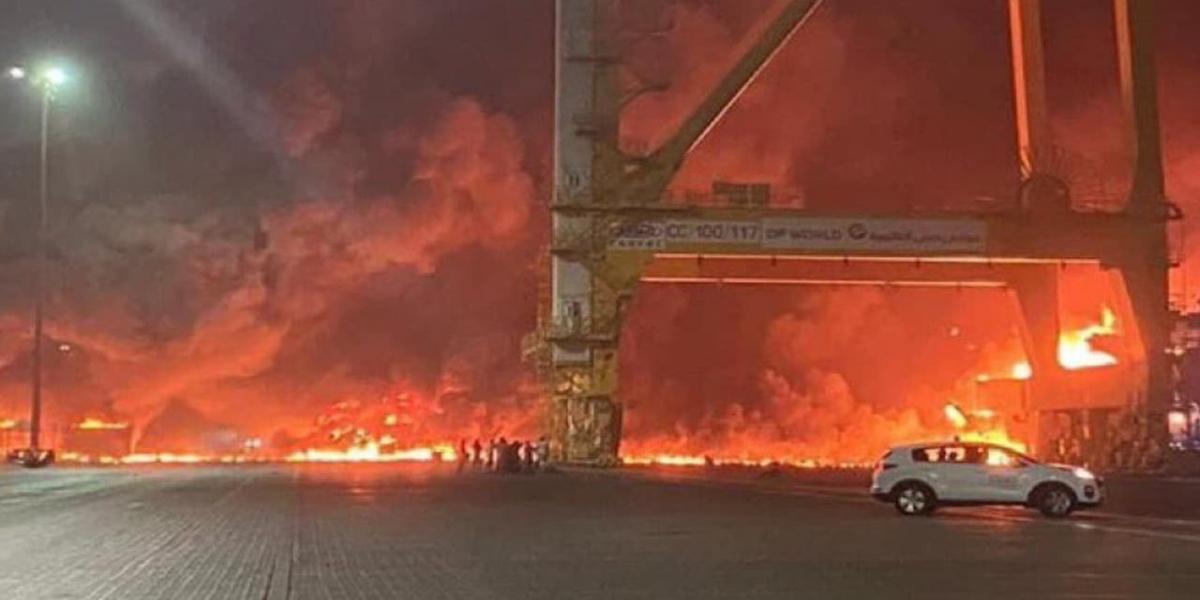 Dubai Jebel Ali Port Explosion