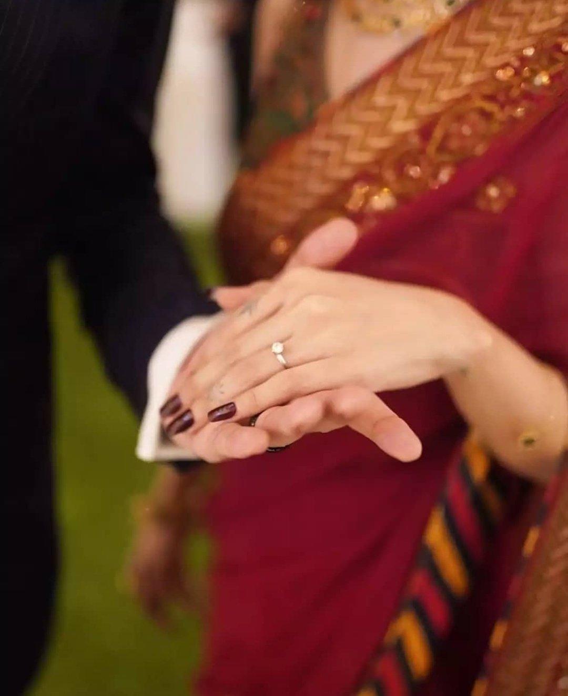 Aima Baig Engagement Ring