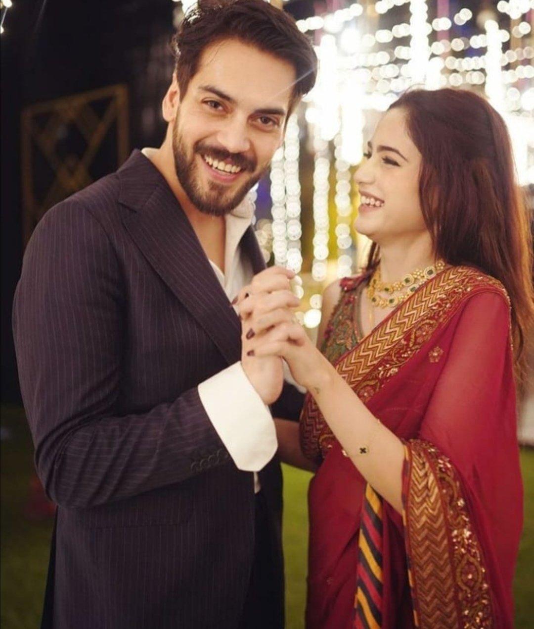 Shahbaz Shigri and Aima Baig Engagement