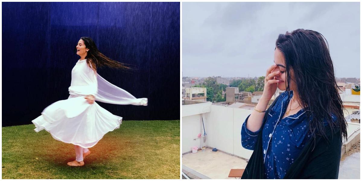 Minal Khan rain