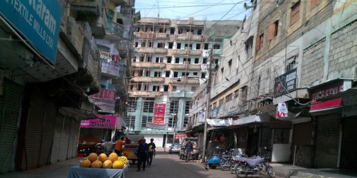 Jubilee Market Karachi demolition