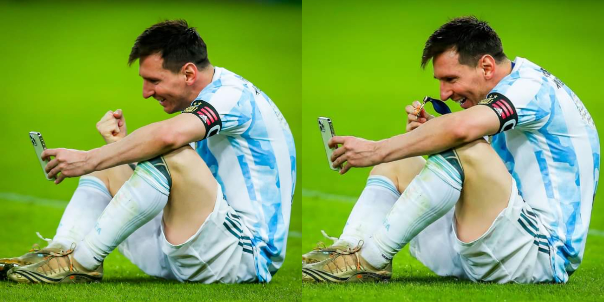 Messi FaceTimes family after winning Copa America title