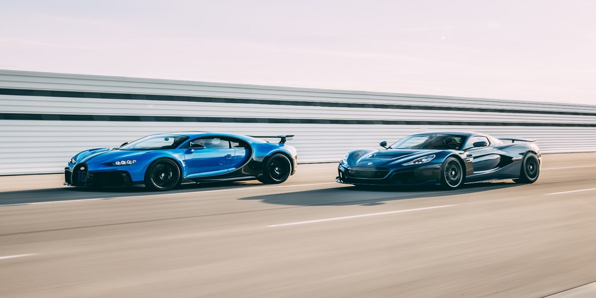 Bugatti has partnered with Rimac, a manufacturer of electric hypercars