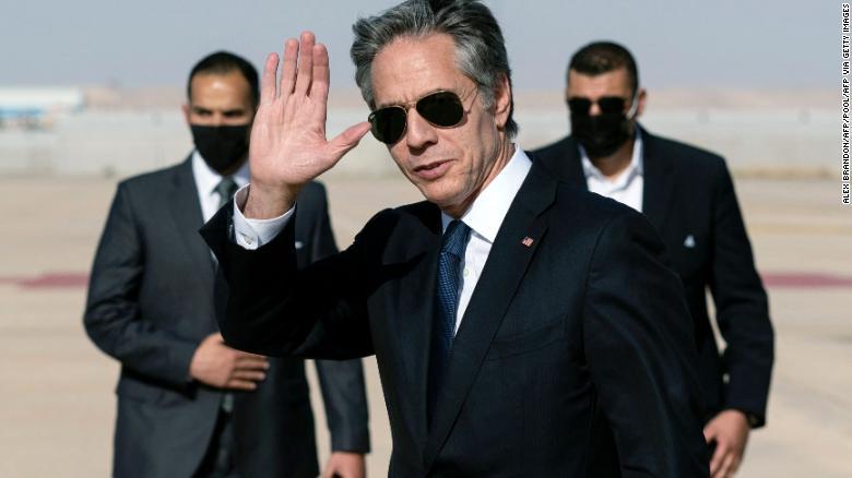 US secretary antony blinkin