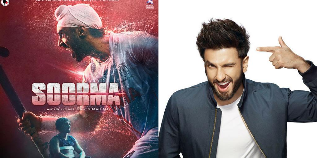 """Ranveer Singh Was first choice to play Sandeep Singh in """"Soorma"""""""