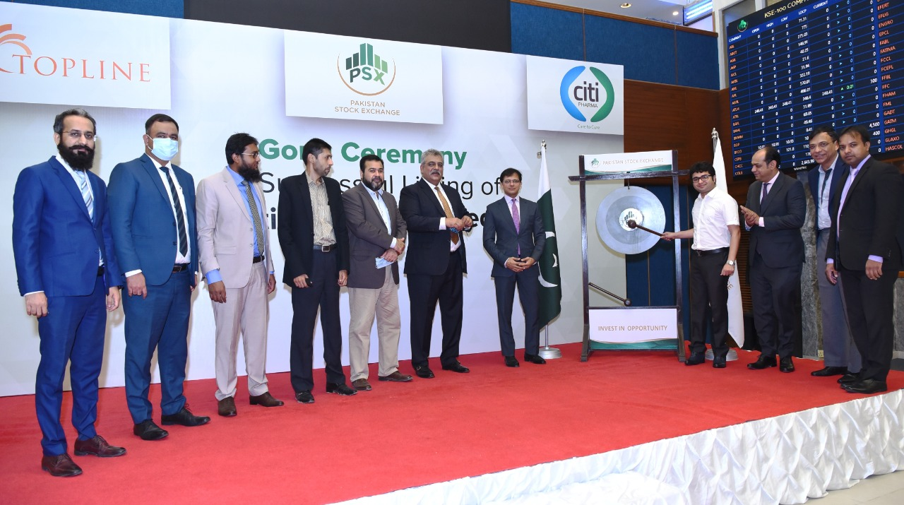 PSX holds gong ceremony to mark listing of Citi Pharma Limited