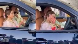 Bride Drives Husband