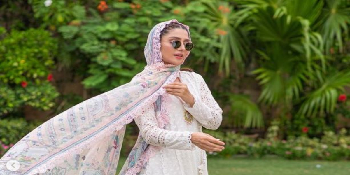 Ayeza Khan Makes Eid Look Cool With Black Goggles