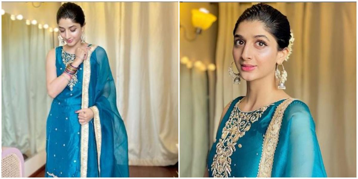 Mawra Hocane Looks Alluring This Eid In Turquoise Dress