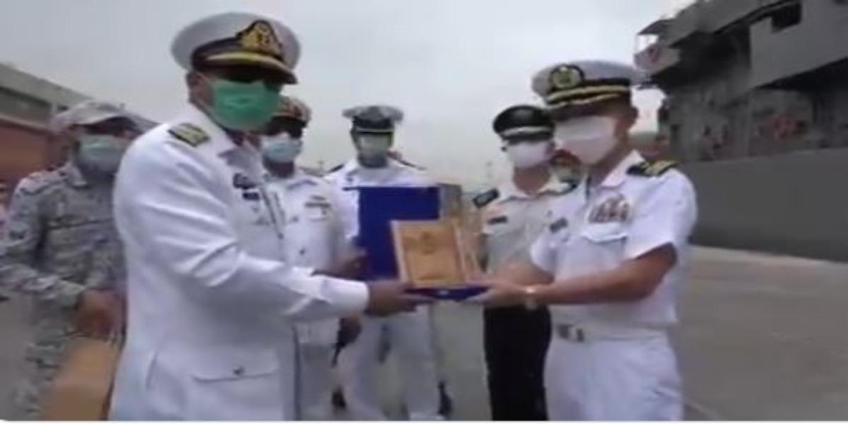 Japanese Maritime Self Defence Force Ship Visits Karachi Port.