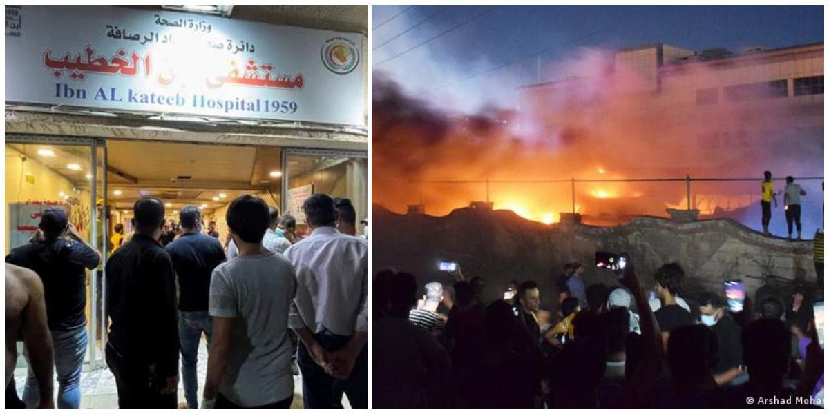 Iraq: At least 60 Killed In COVID Ward Fire At Hospital