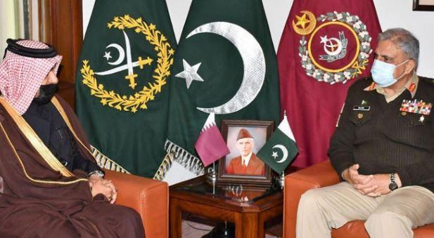 coas bajwa with qatar