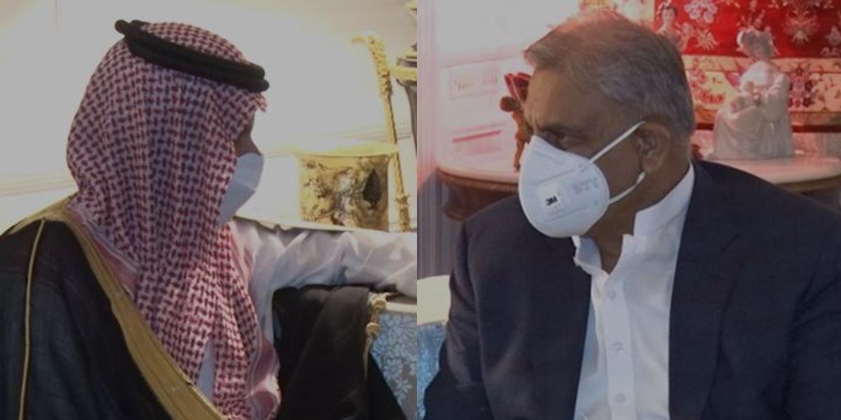 COAS Bajwa meets Faisal Bin Farhan Al Saud