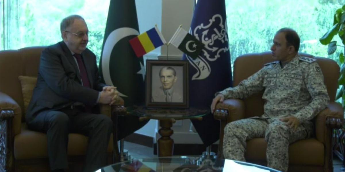 CNS Nazi meets Ambassador of Romania To Pakistan